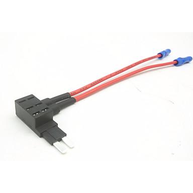 držač osigurača za auto-uložak / osigurač s osiguračima za automobil / 2-polni mini osigurač 3 reda dvostruke žice (nema dodatnog osigurača)