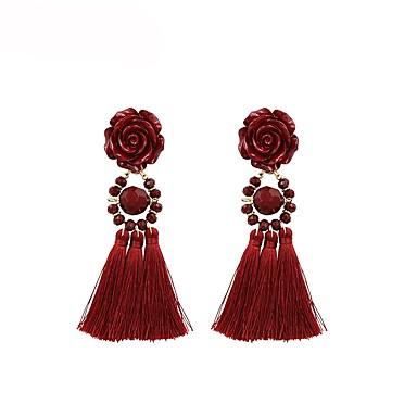 Žene Viseće naušnice Rese dame Kićanka Naušnice Jewelry Crn / Crvena Za Zabava / večer Dnevno 1 par
