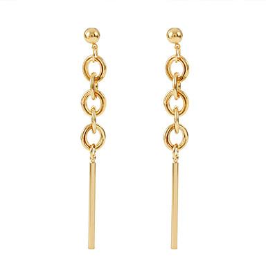 Žene Long Poveznica / lanac Viseće naušnice Naušnice dame Jednostavan Korejski Moda Jewelry Pink / Zlatan Za Kauzalni Dnevno 1 par