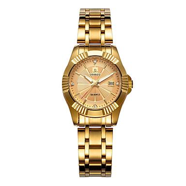 Žene Ručni satovi s mehanizmom za navijanje Zlatni sat Kvarc Zlatna 30 m Kalendar Analog dame Ležerne prilike Moda - Crn Pink Rose Gold