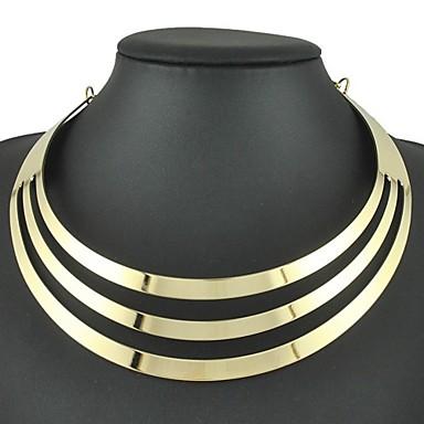 Žene Choker oglice Pozlaćene Ogrlica Šupalj Mir Nada dame Punk Europska Moda Legura Zlato 45 cm Ogrlice Jewelry 1pc Za Dnevno Karneval