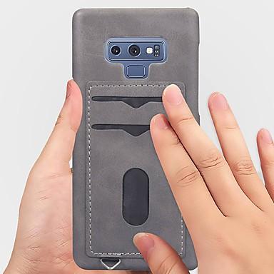 Θήκη Za Samsung Galaxy Note 9 / Note 8 Utor za kartice / Mutno Stražnja maska Jednobojni Mekano PU koža
