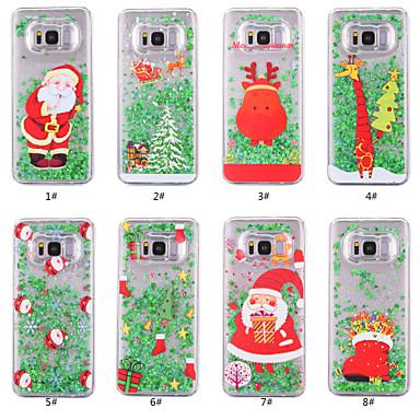 Θήκη Za Samsung Galaxy S8 Plus / S8 / S7 edge S tekućinom / Prozirno / Uzorak Stražnja maska Božić Tvrdo PC