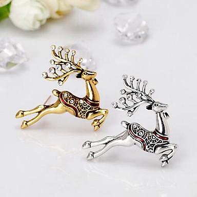 Žene Broševi 3D Los dame Stilski Jednostavan Umjetno drago kamenje Broš Jewelry Zlato Pink Za Božić