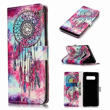 Недорогие Чехлы и кейсы для Galaxy Note-Кейс для Назначение SSamsung Galaxy Note 9 / Note 8 Кошелек / Бумажник для карт / со стендом Чехол Ловец снов Твердый Кожа PU