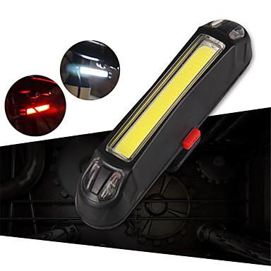 LED Svjetla za bicikle Stražnje svjetlo za bicikl sigurnosna svjetla Brdski biciklizam Bicikl Biciklizam Vodootporno Prijenosno Prilagodljiv Izdržljivost Litij-ionska Baterija USB 100 lm Bijela Crveno