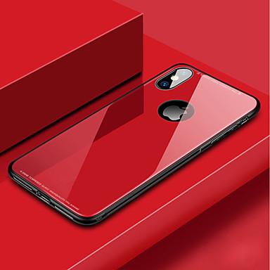 Θήκη Za Apple iPhone XS / iPhone XR / iPhone XS Max Otporno na trešnju Stražnja maska Jednobojni Tvrdo Kaljeno staklo