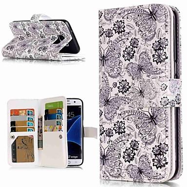 voordelige Galaxy S3 Hoesjes / covers-hoesje Voor Samsung Galaxy S9 / S9 Plus / S8 Plus Portemonnee / Kaarthouder / met standaard Volledig hoesje Vlinder Hard PU-nahka