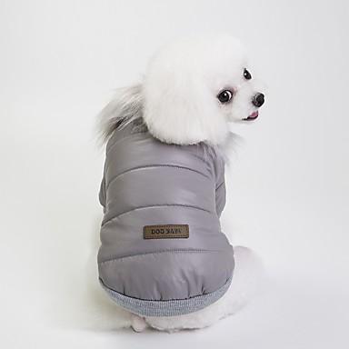Psi Kaputi Zima Odjeća za psa Crvena Plava Sive boje Kostim Buldog Shiba Inu Mops (Pug) Terilen Uglađeni Ležerno / za svaki dan Grijači S M L XL XXL
