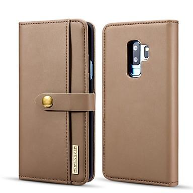 Χαμηλού Κόστους Θήκες / Καλύμματα Galaxy S Series-tok Για Samsung Galaxy S9 Plus Πορτοφόλι / Θήκη καρτών / με βάση στήριξης Πλήρης Θήκη Μονόχρωμο Σκληρή PU δέρμα