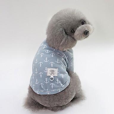 Psi Majice Zima Odjeća za psa Bijela Plava Pink Kostim Buldog Shiba Inu Mops (Pug) Pamuk Patterned Lik Sweet Style Simple Style XS S M L XL