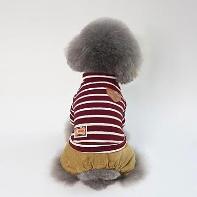 Psi Kaputi Zima Odjeća za psa Zelen Crvena Kostim Buldog Shiba Inu Mops (Pug) Pamuk Dungi Lik Uglađeni Sweet Style Ležerno / za svaki dan S M L XL XXL