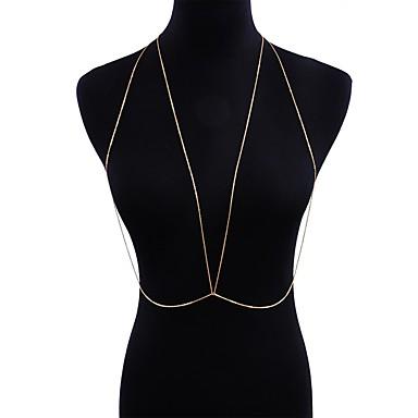 Žene Nakit za tijelo 90 cm Tijelo Chain / Belly Chain Bijela Geometric Shape dame / Umjetnički / Osnovni Legura Nakit odjeće Za Klub / Bikini Ljeto