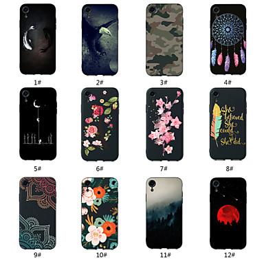 Недорогие Кейсы для iPhone-Кейс для Назначение Apple iPhone XS / iPhone XR / iPhone XS Max С узором Кейс на заднюю панель Пейзаж / Животное / Цветы Мягкий ТПУ
