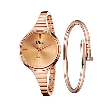 Žene Ručni satovi s mehanizmom za navijanje Kvarc Nehrđajući čelik Rose Gold 30 m Kreativan Casual sat Analog dame Vintage Moda - Pink Rose Gold