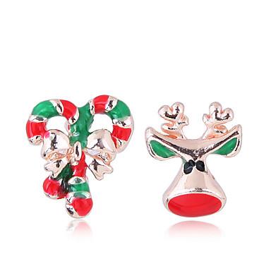 Žene Sitne naušnice neprilagođeno Los dame Europska Moda Slatka Style Naušnice Jewelry Zlato Za Božić Dnevno 1 par