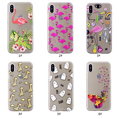 povoljno Maske za mobitele-Θήκη Za Apple iPhone XS / iPhone XR / iPhone XS Max Uzorak Stražnja maska Rukav leptir / Flamingo / Crtani film Mekano TPU