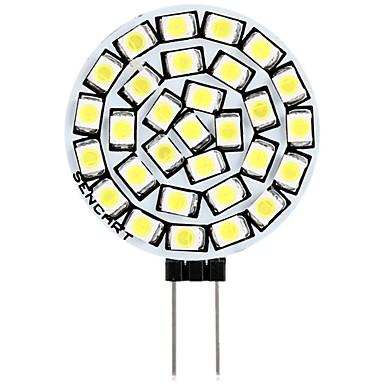 رخيصةأون LED وإضاءة-SENCART 1PC 3 W أضواء LED Bi Pin 180 lm G4 T 30 الخرز LED SMD 2835 ديكور أبيض دافئ أبيض 12 V