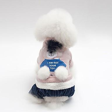 Psi Kaputi Zima Odjeća za psa Pink Sive boje Kostim Buldog Shiba Inu Mops (Pug) Pamuk Životinja Lik Grijači Simple Style S M L XL XXL