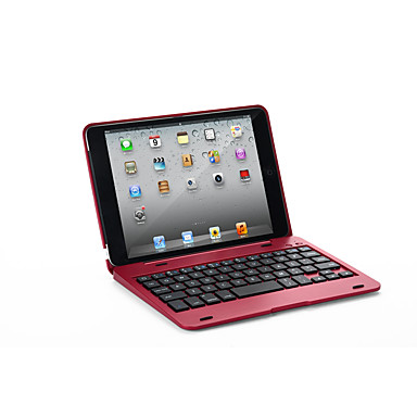 billige iPhone-etuier-Etui Til Apple iPad Mini 3/2/1 med tastatur Heldekkende etui Ensfarget Hard PU Leather