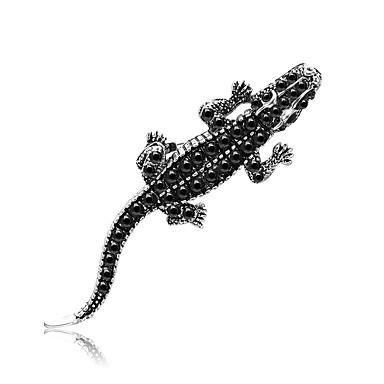 Žene Kristal Broševi Šupalj dame Jedinstven dizajn Crtići Tropical Broš Jewelry Crno Za Maškare Ulica