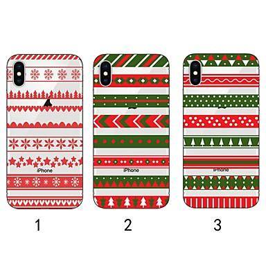 Недорогие Кейсы для iPhone 6 Plus-Кейс для Назначение Apple iPhone XS / iPhone XR / iPhone XS Max Ультратонкий / Прозрачный / С узором Кейс на заднюю панель Рождество Мягкий ТПУ
