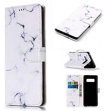 Θήκη Za Samsung Galaxy Note 9 / Note 8 Novčanik / Utor za kartice / sa stalkom Korice Mramor Tvrdo PU koža