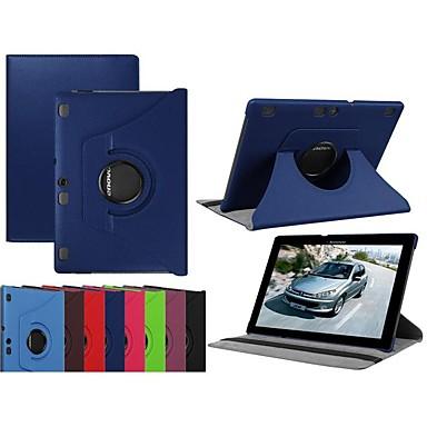 Недорогие Чехлы и кейсы для Lenovo-Кейс для Назначение Lenovo Lenovo Tab 3 10 Plus / Lenovo Tab 3 10 business (TB3-X70F / N) / Lenovo Tab 2 A10-70 Поворот на 360° / со стендом / Флип Чехол Однотонный Твердый Кожа PU