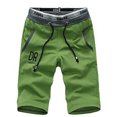 Muškarci Ulični šik Dnevno Chinos / Kratke hlače Hlače - Jednobojni Djetelina Crn Sive boje XXL XXXL XXXXL