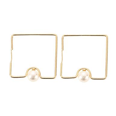 Žene Geometrijski Okrugle naušnice Imitacija bisera Naušnice dame Jednostavan Europska Moda Jewelry Zlato Za Kauzalni Dnevno 1 par