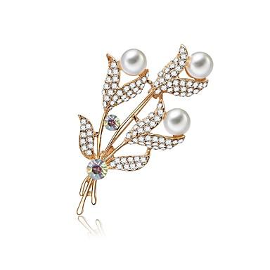 Žene Slatkovodni biser Klasičan Broševi Cvijet dame Jednostavan Sweet Lolita Elegantno Broš Jewelry Pink Za Nova Godina Kamado roštilj