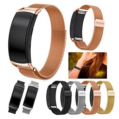 Недорогие Часы для Samsung-Ремешок для часов для Gear Fit 2 Samsung Galaxy Миланский ремешок Нержавеющая сталь Повязка на запястье