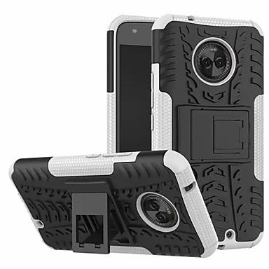 Недорогие Чехлы и кейсы для Motorola-Кейс для Назначение Motorola Moto X4 со стендом Кейс на заднюю панель броня Твердый ПК