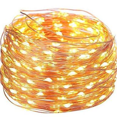 5m Žice sa svjetlima 50 LED diode Toplo bijelo Ukrasno USB napajanje 1set