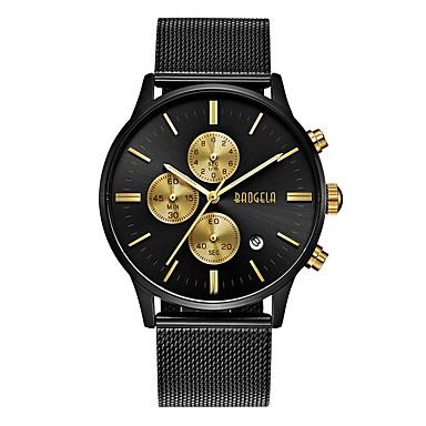Muškarci Sportski sat Japanski Japanski kvarc Nehrđajući čelik Crna / Zlatna 30 m Vodootpornost Kalendar Kronograf Analogni-digitalni Moda - Crn Zlatna
