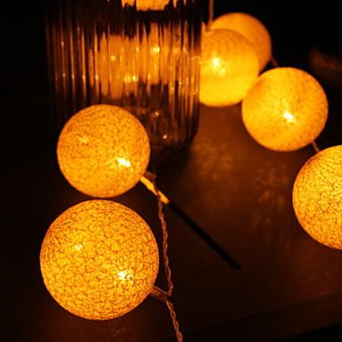 4m Žice sa svjetlima 20 LED diode Toplo bijelo Ukrasno AA baterije su pogonjene