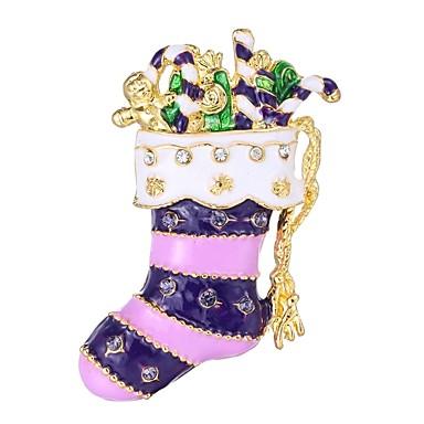 Žene Broševi 3D Za cipele dame Jednostavan Umjetno drago kamenje Broš Jewelry Crvena Za Božić