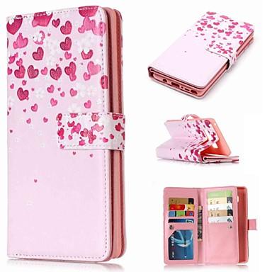 Недорогие Чехлы и кейсы для Galaxy Note-Кейс для Назначение SSamsung Galaxy Note 9 / Note 8 / Note 5 Кошелек / Бумажник для карт / со стендом Чехол Цветы Твердый Кожа PU