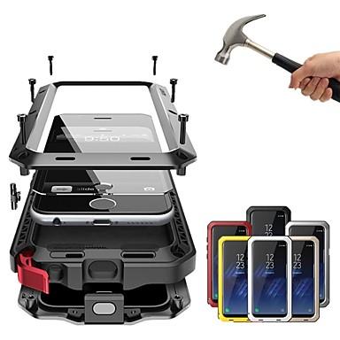 Недорогие Кейсы для iPhone X-Кейс для Назначение Apple iPhone XS / iPhone XR / iPhone XS Max Защита от удара / Защита от пыли / Защита от влаги Чехол Однотонный Твердый Металл
