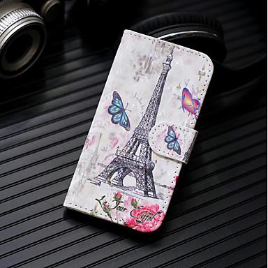 voordelige Huawei Mate hoesjes / covers-hoesje Voor Huawei Huawei P20 / Huawei P20 Pro / Huawei P20 lite Portemonnee / Kaarthouder / met standaard Volledig hoesje Eiffeltoren Hard PU-nahka / P10 Lite