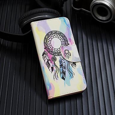 Недорогие Кейсы для iPhone X-Кейс для Назначение Apple iPhone XS / iPhone XR / iPhone XS Max Флип / С узором Чехол Ловец снов / Цветы Твердый Кожа PU