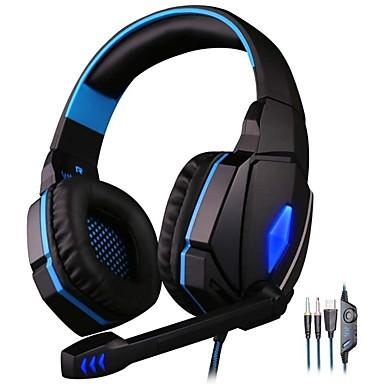 Недорогие Наушники для геймеров-KOTION EACH G4000 Игровая гарнитура Проводное С микрофоном С регулятором громкости Игры