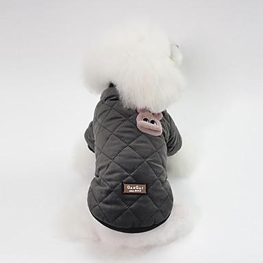 Psi Zakó Zima Odjeća za psa Crno Pink Kostim Buldog Shiba Inu Mops (Pug) Pamuk Lik Zec Sweet Style Grijači S M L XL XXL