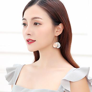 Žene Naušnice sprijeda i straga Smrznuta lopta dame Jednostavan Korejski Platinum Plated Pozlata od crvenog zlata Naušnice Jewelry Light Gold Za Ulica 1 par