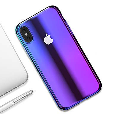 voordelige iPhone 6 Plus hoesjes-hoesje Voor Apple iPhone XS / iPhone XR / iPhone XS Max Ultradun / Transparant Achterkant Kleurgradatie Hard PC
