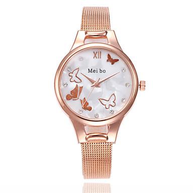 Žene Ručni satovi s mehanizmom za navijanje Kvarc Srebro / Zlatna / Rose Gold Casual sat Analog dame Leptiraste Moda - Pink Zlatna Rose Gold