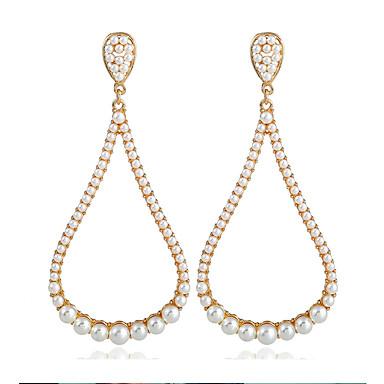Női Függők Link / lánc hölgyek Bohém Európai Gyöngy Arannyal bevont Fülbevaló Ékszerek Arany Kompatibilitás Utca 1 pár
