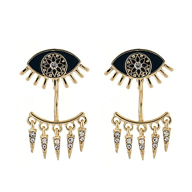Žene Viseće naušnice Vintage Style Zlo oko dame Naušnice Jewelry Crn / Obala Za Zabava / večer Maškare 1 par