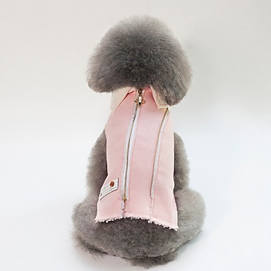 Psi Mačke Zakó Zima Odjeća za psa Plava Pink Kostim Buldog Shiba Inu Mops (Pug) Pamuk Lik Uglađeni Grijači Simple Style S M L XL XXL