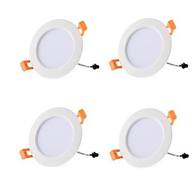 4kom 7 W 700 lm 15 LED zrnca Jednostavna instalacija Udubljeno LED ugradbene žarulje Toplo bijelo Hladno bijelo 85-265 V Stanovanje Za dom / ured Za dnevnu sobu / blagavaonicu / RoHs / CE